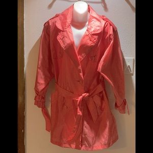 Kaos Trench Plaid Red & White Coat size M